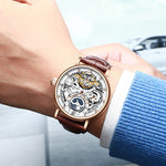 KINYUED Skeleton Mechanical Automatic Watch - mihwatches