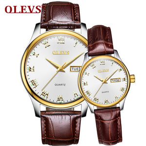 OLEVS Leather Lovers Watch - mihwatches