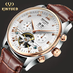 KINYUED Skeleton Tourbillon Mechanical Watch - mihwatches
