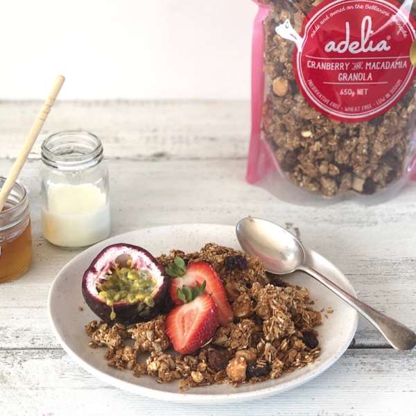 Adelia - Cranberry and Macadamia Granola