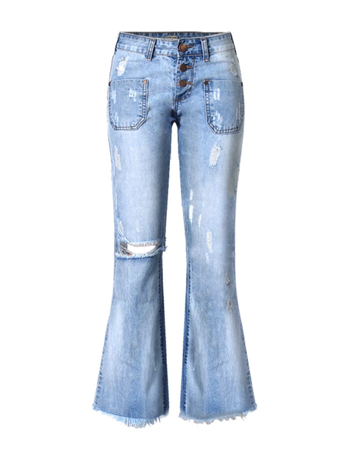 Blue Casual Sheath Solid Jeans