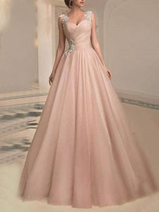 Paneled Sleeveless Prom Elegant Maxi Dress
