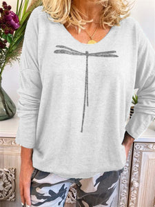 Cotton Long Sleeve Round Neck Sweater