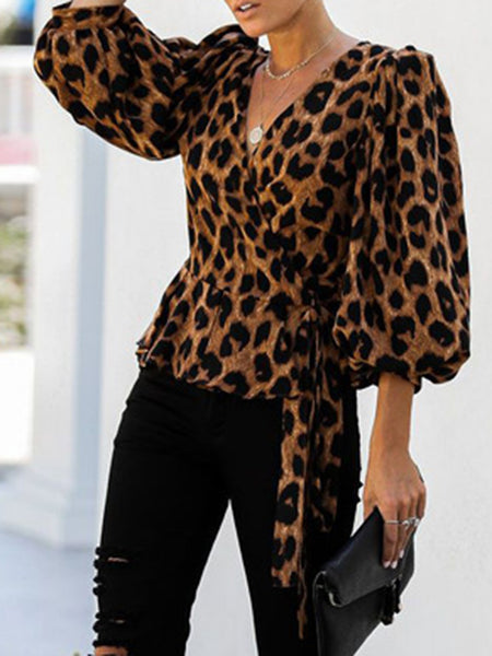 Leopard Print Shift Casual Top