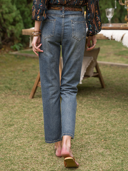 Women Cotton Simple & Basic Easy-fit Jean