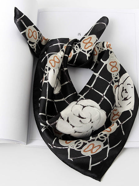 Daily Casual Women Printed Silk Spring Fall Scarf