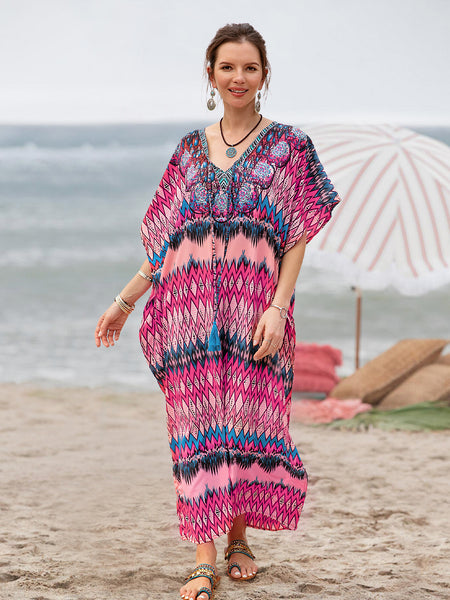 Women Shift Cover up Printed Holiday Beach Dresses