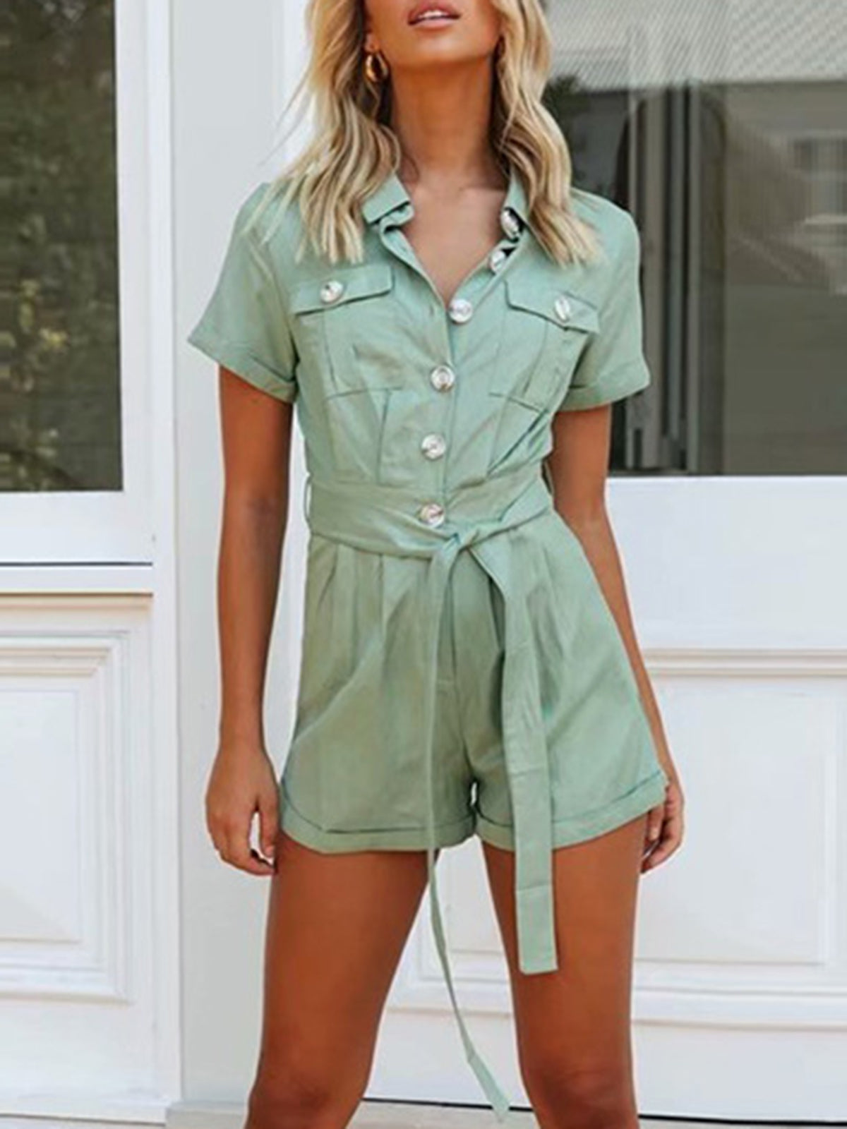 Pockets Sheath Casual Jumpsuit