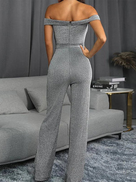 Shimmer Sheath Daily Elegant Jumpsuit