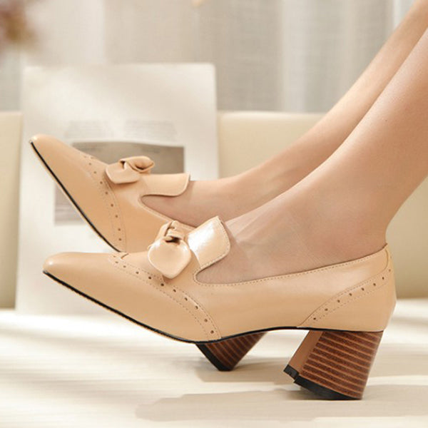 Summer Elegant Chunky Heel Shoes