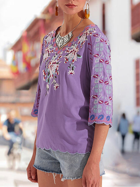 Shift Holiday Floral  Top