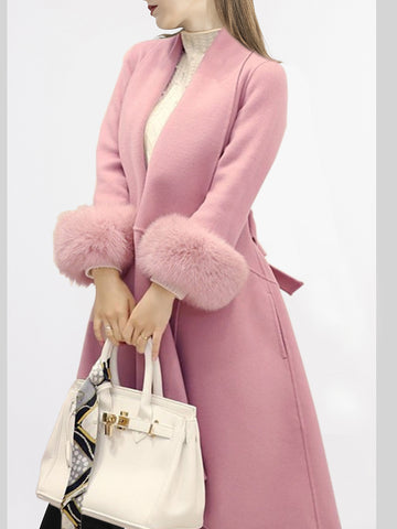 Asymmetric Shawl Collar Elegant Coat