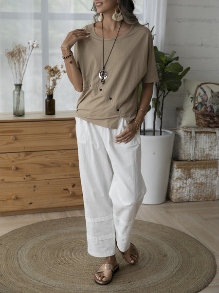 White Shift Casual Pants