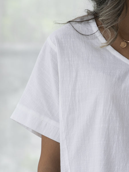 White Simple Shift Shirts & Tops