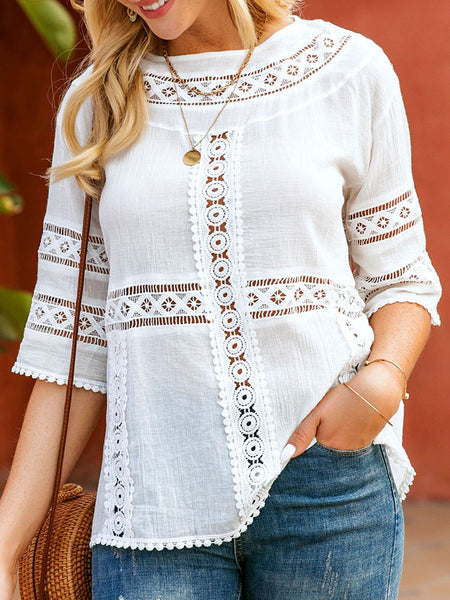 White Graphic Casual Shirts & Tops