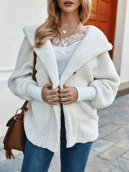 White Long Sleeve Casual Paneled Outerwear