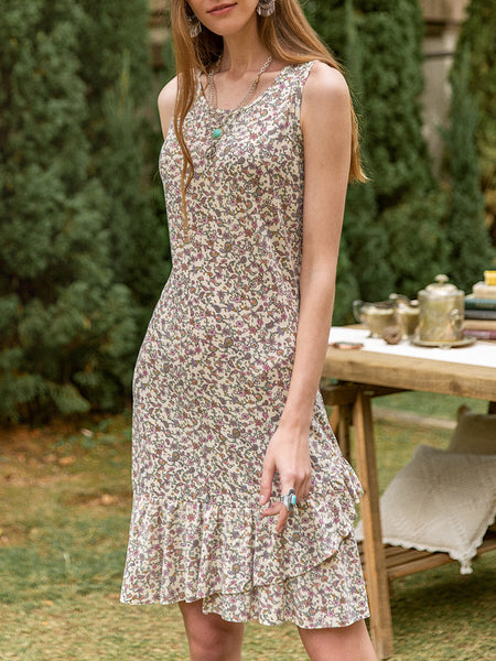 Women Basic Casual Floral Dresses