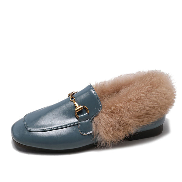 Square Toe Pu Spring/fall Daily Loafers