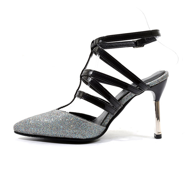 Sexy Buckle Strap Stiletto Heel Women Shoes