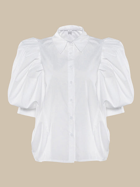 Ruched Batwing Daily Casual Blouse