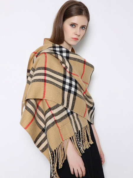 Cashmere  Checkered/Plaid Scarves