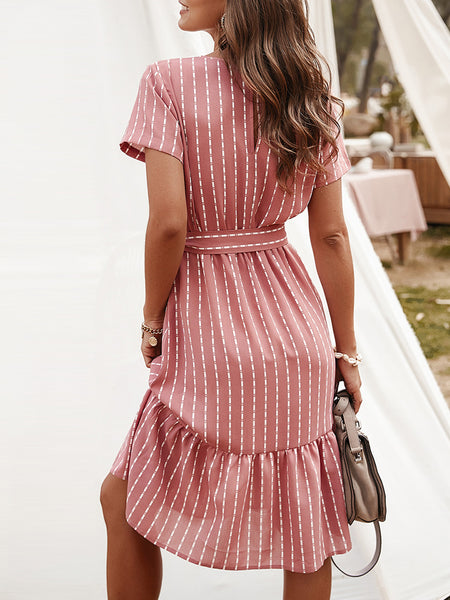 A-Line Daily Tiered  Midi Dress
