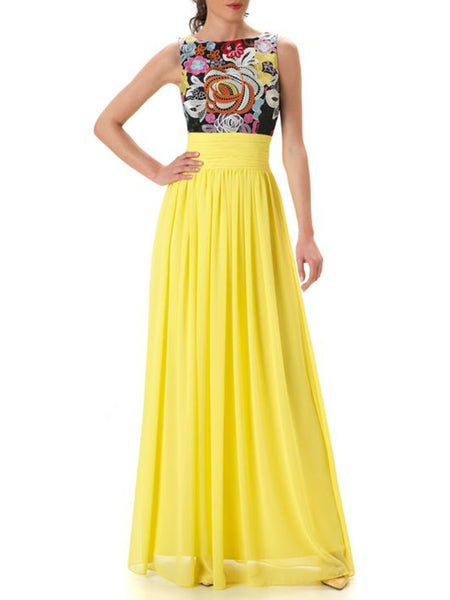 Swing Floral Elegant Prom Maxi Dress