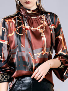 Printed Graphic Elegant Blouse