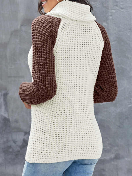 Turtleneck Casual Solid Sweater