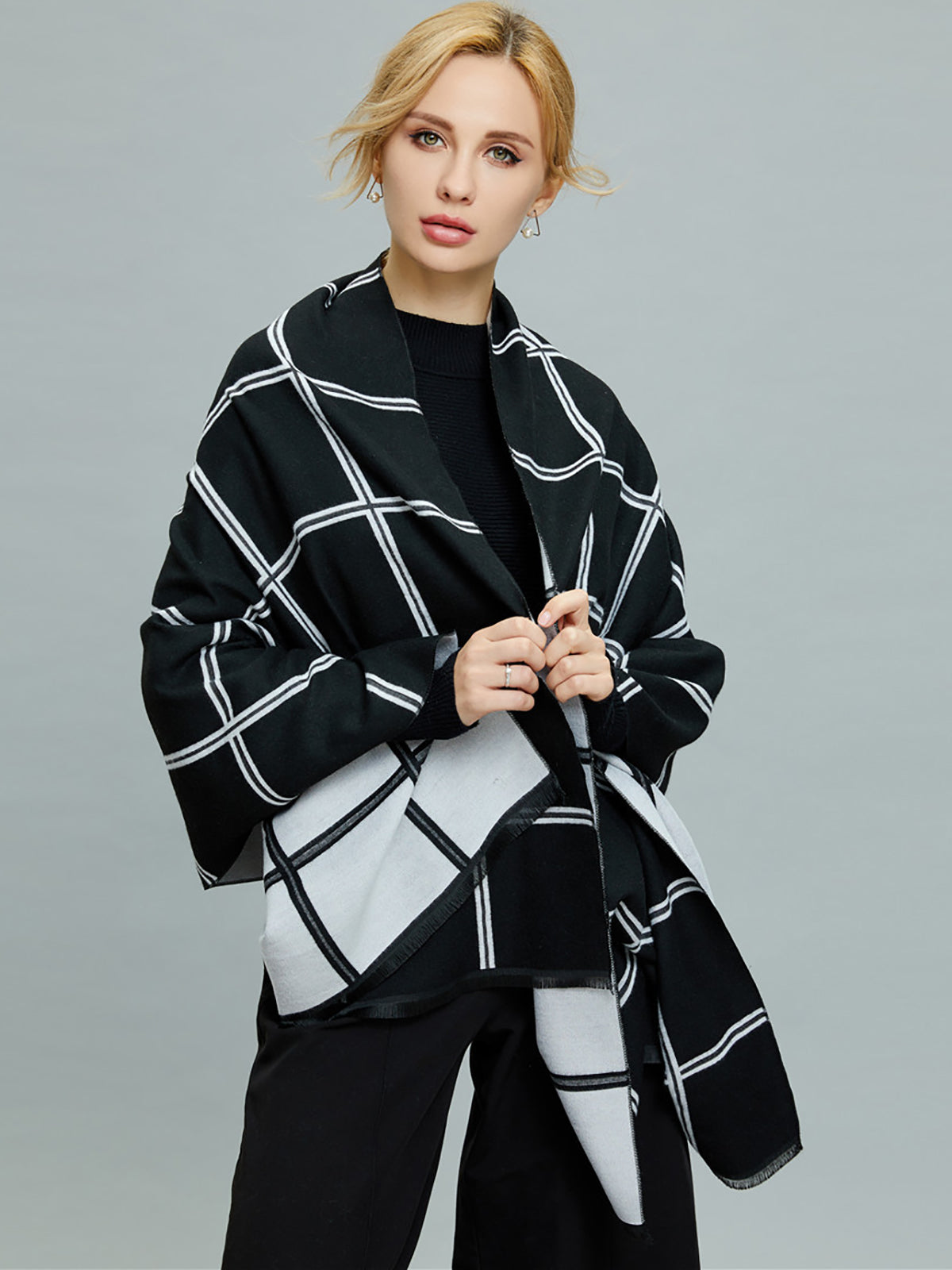 Checkered/plaid Cashmere Scarves