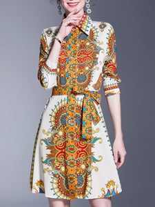 Printed Graphic Sheath Elegant Mini Dress