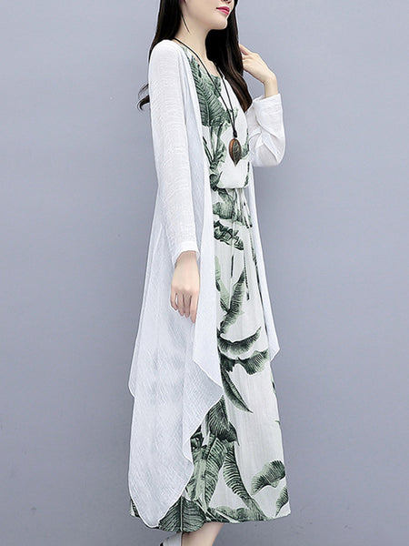 Printed Graphic Shift Casual Linen Set
