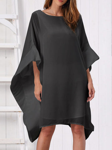 Asymmetric Casual Midi Dress