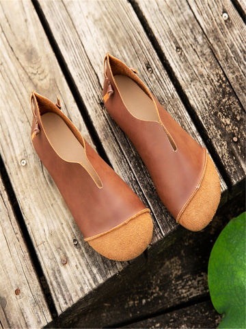 Leather Summer Flats