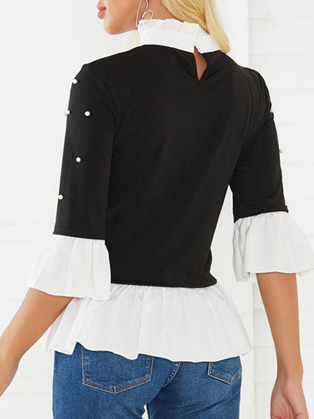 Ruffled Black Dresses Shift Daily Casual Dresses
