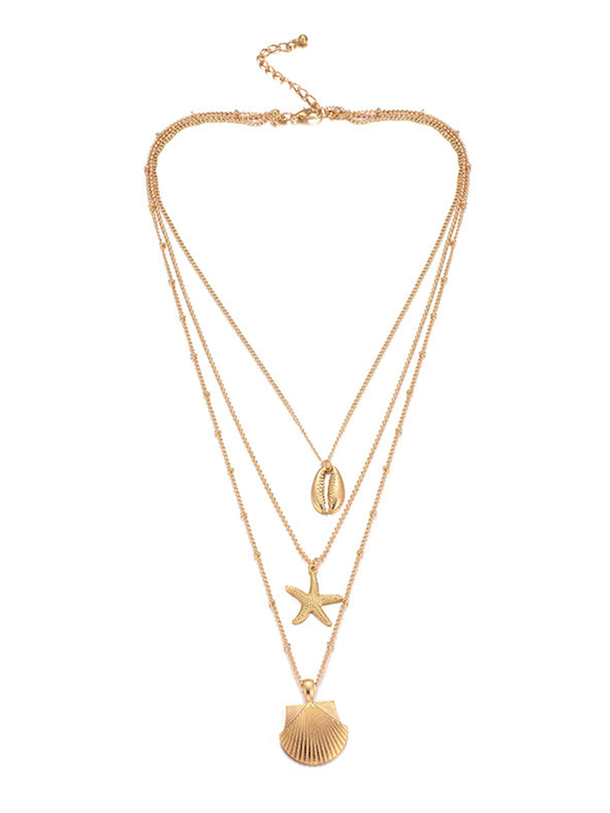 Golden Casual Alloy Necklaces