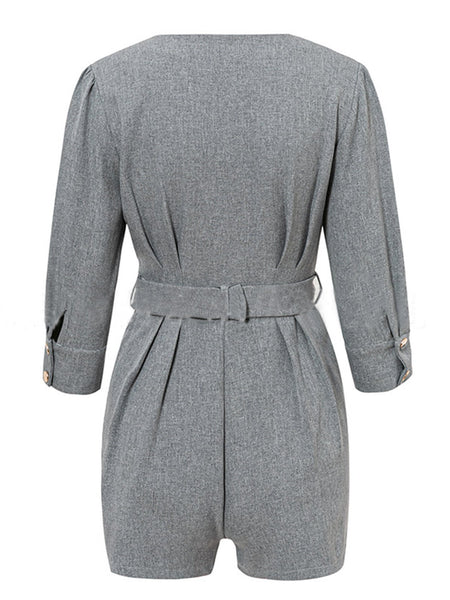 Ruched Shift Daytime Casual Romper