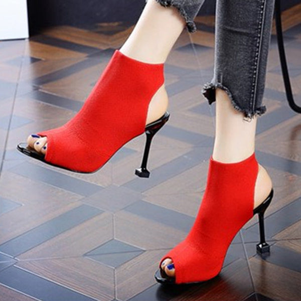 Stiletto Heel Peep Toe Heels