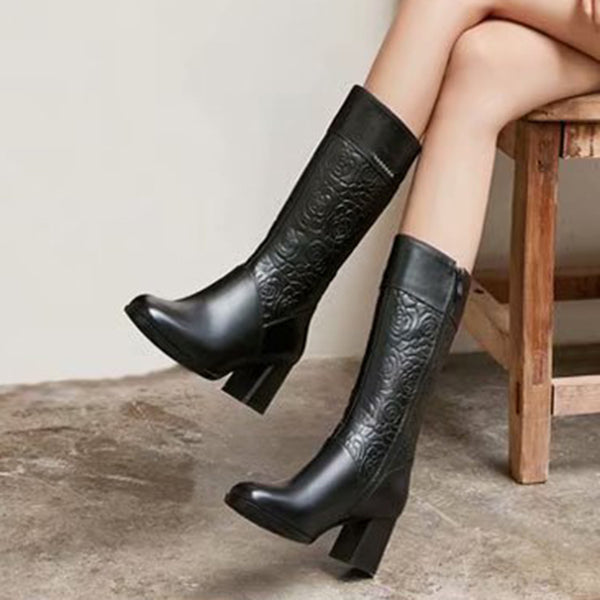 Pu Winter Zipper Holiday Boots
