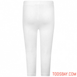 MOSCHINO BABY GIRLS WHITE COTTON LEGGINGS - Tods Bay