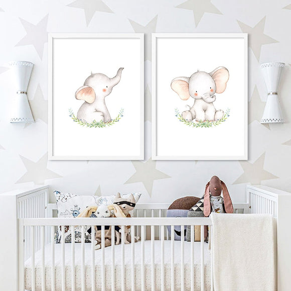 Baby | Nursery | Wall | Elephant | Art