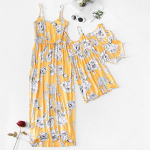 Dresses | Mother & Daughter | Yellow | Flower - Tods Bay