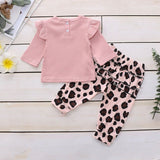 Baby Girl | Leopard | 2-Piece | Set | Long Sleeve - Tods Bay