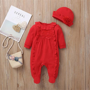 Baby Girl | One Piece | Hat | Long Sleeve | Jumpsuit - Tods Bay