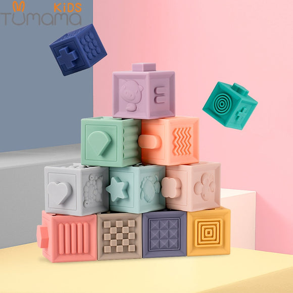 12-Piece | Baby | Block | Building | Rubber - Tods Bay
