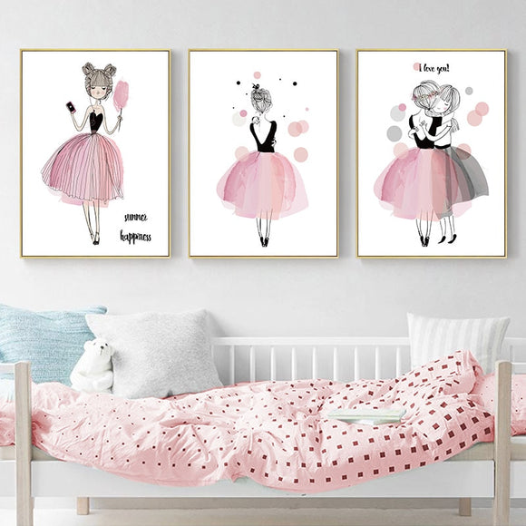 Baby | Nursery | Art | Canva | Pink | Cute