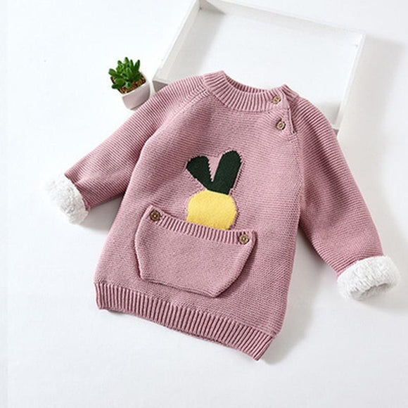Purple Kids Baby Warm Cotton Sweater