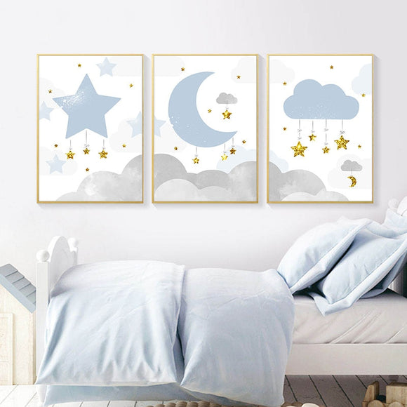 Star | Moon | Cloud | Canva | Art