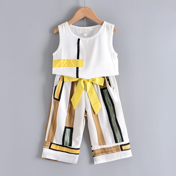 Yellow 2-Piece Set Summer Spring Girls Tod Girl Casual