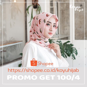 Hijab Segiempat Finey C2 Peach